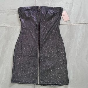 Dresses & Skirts - Strapless GLITTERY Fishnet Dress